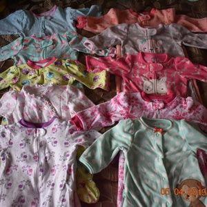 3-6m Baby Girl Pajamas